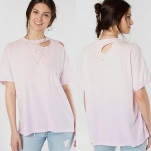 FREE PEOPLE Distressed Lucky T-Shirt NWT